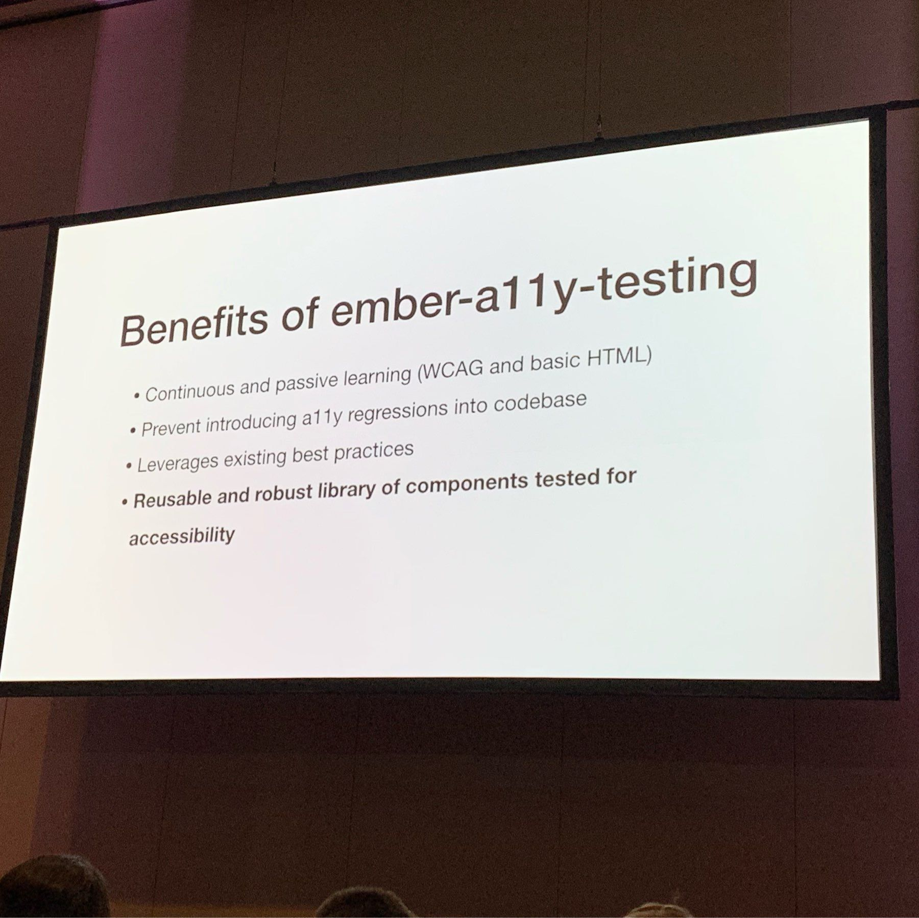 talk slide that discusses the benefits of using the testing library